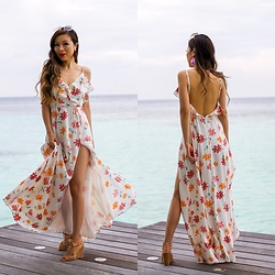 Sasa Zoe - On Major Sale Dress, Sandals, Sunglasses, Earrings - FLORAL MAXI IN PARADISE
