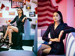 Linh Minouderie - Asos Dress, New Look Heels, New Look Earrings - American Diner