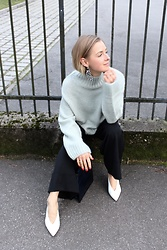 Anna Borisovna - H&M Sweater, Massimo Dutti Pants, Mango Shoes - Mint Sweater <3