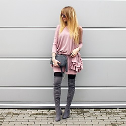 Diane Fashion -  - Pink dress and grey details