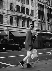 Andrejs Šemeļevs - Cos Coat, Distyled Backpack, Steve Madden Shoes - HELLO LONDON