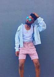Kevin Kels - H&M Sweat Shorts, H&M Tank Top, Diesel Denim Jacket, Chanel Shades - Summer Lovin'