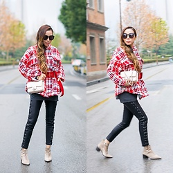 Sasa Zoe - Jacket, Pants, Booties, Sunglasses, Bag - BELTED IN SHANGHAI