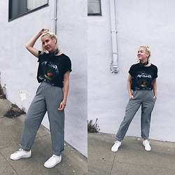 Giovanna Osterman - Urban Outfitters Bandana, Old Navy Tee, Forever 21 Bracelet, Adidas Sneakers - 01.08.18