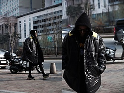 INWON LEE - Byther Over Sized Padded Jacket, Byther Oxford Hoodie, Byther Cross Embroidery Leggings & Short Pants - Big Street