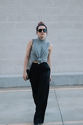 Ali C - Asos Top, Charlotte Russe Pants, Valentino Bag - ALL KNOTTED UP