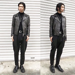 @KiD - Marc By Jacobs Key Necklace, Ch. Leather Riders, Ch. Pants, Dr. Martens 3hole - JapaneseTrash281