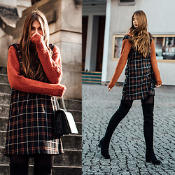 Jacky -  -  Winter Style: Dress over Sweater