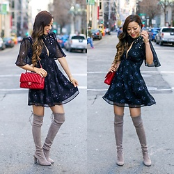 Sasa Zoe - On Sale For Less Than $45 Dress, Otk Boots, Earrings, Bag - EMBELLISHED STARS