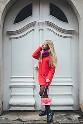 Anna Turanova - Reserved Coat, Reserved Bag, Reserved Scarf, Reserved Boots - Colorful Winter