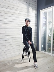 Samuel Lam - Uniqlo By Uuuu Sweater, Saint Laurent Skinny Jeans, Saint Laurent Sneakers - Back to LOOKBOOK