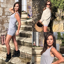 Holly Maulin - Lululemon Grey Dress, Chanel Sunglasses - Grey skies