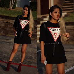 Nabina Magar - Guess Logo Tee, Dolls Kill Strap Bag, Zaful Sock Boots - Bond girl