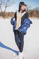 Hoa Vo - Stradivarius Puffer Jacket, Only Color Block Track Jacket, H&M Sequin Top, Uniqlo Sweat Pant - Sparkling New year