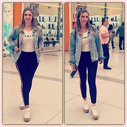 Marcela Perez - Zara Leggins, Superga Sneakers, Mango Jacket - Sporting look