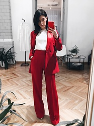 Vlada Avornic - Raquette Flared Pants - I'm dreaming of a Red Christmas