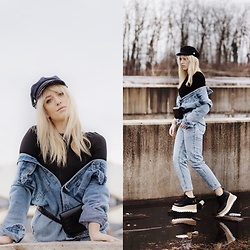 TheKAOZ - Pull & Bear Mom Jeans, Zara Jacket - Denim in denim