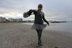 Elisa Bochicchio - Tally Weijl Backpack, Pimkie Skirt, Calzedonia Tights, Clarks Shoes, Calzedonia Socks - Grey dove