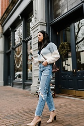 Kim Seidensticker - Asos Sweater, Agolde 90's Jeans, Via Spiga Heels - Winter Uniform