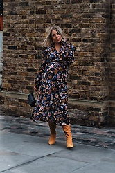 Joanne Christina Lewis - Asos Floral Dress - Avoiding Blue Monday