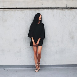 Jessica Revill - Fenty Puma Top, Missguided Shoes - All black everything
