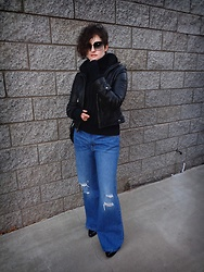LogicFree - Guess Leather Jacket, Levi's® Jeans - Still no winter...