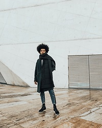 Marco Moura - Eureka Shoes Boots, Zara Jeans, Zara Quilted Scarf, Zara Overcoat - Winter days