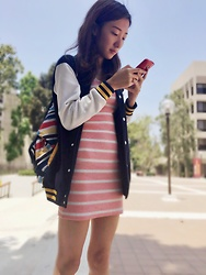 Tingaling Yang - Stripes With Pink And White - Pharmaceutical student at USC