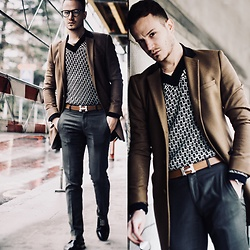 I N F A S H I O N I T Y a style story - Bottega Veneta Knit Sweater, The Kooples Camel Overcoat - CHIC WEEKEND