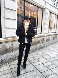 Aneta Kramarska - Reserved Cap, Pull & Bear Puffer Jacket, Zara Trousers, Reserved Turtle Neck - Style is a way to say who you are without having to speak