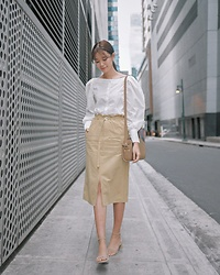 Tricia Gosingtian - H&M Top, Yesstyle Skirt, A.P.C. Bag, Piper & Lauren Shoes - 011418