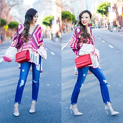 Sasa Zoe - Sweater, Earrings, Jeans, Bag, Shoes - CALL ME CROCHET