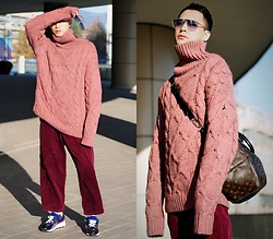 Chris Su - Zara Sweater, Pierre Hardy Sneakers - Oversized