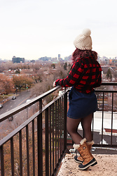 Lyzie McCake - Pimkie Dress, Sorel Boots, Bizzbee Hat - Canadian girl