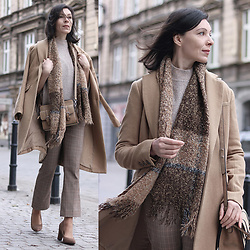 Minimalissmo .. - New Look Coat, Zara Pants, Parfois Bag, Mango Sweater - Beige look