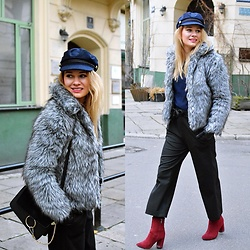 Kamila Libelula - Zara Pants, H&M Cap - Winter in the city