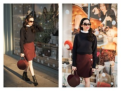 Lisa Valerie Morgan - Sandro Sweater, Tommy Hilfiger Boots, Tammy & Benjamin Bag - Parisian Girl Style