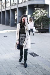 EmerJa Design - H&M Wrap Skirt, Uterqüe Over The Knee Boots, Zara Trench - New classics