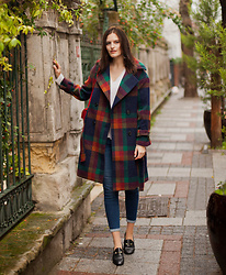Viktoriya Sener - Chicwish Coat - CHECKED COAT