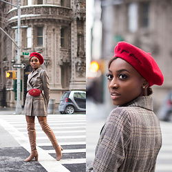 Nkenge Brown - Gucci Belt Bag, Forever 21 Beret, Zara Blazer, Chinese Laundry Krush Otk Boots - In Your Dreams