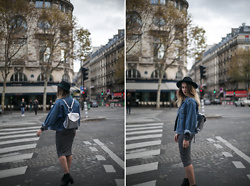 Giseleisnerdy L - &Other Stories Hat, Vintage Denim Jacket, New Look Dress, Zara Bag - Giseleisnerdy.fr - rock denim