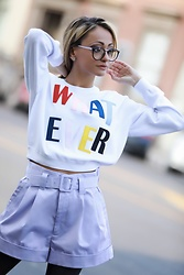 Lauren Recchia - Alice + Olivia Whatever Sweater, Marc Jacobs Shorts - Whatever