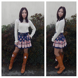 Nowaki Selenocosmia - Liz Lisa Sweater, Liz Lisa Skirt, Brown Boots - No snow in December