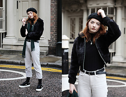 Hannah Louise - Weekday White Corduroy Trousers, Converse One Star Platform Trainers - White Corduroy Trousers
