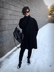 LogicFree - Vera Wang Sunglasses, The Limited Coat, Gap Turtleneck, Forever 21 Backpack, Not Your Daughter's Jeans, Aldo Boots - The illusion of winter