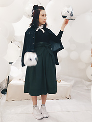 STELLA MA - Uniqlo Denim Jacket, Uniqlo Mid Skirt, Nike Sneakers - Bubble