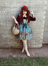 Shannen VM - Angelic Pretty Lucky Key Jsk, Princess Highway Cutsew, Mimco Gold Glitter Flats, Milk Heart Bag - Lucky Key