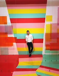 Noe Lopez - Thom Browne Brogues - Sea of color