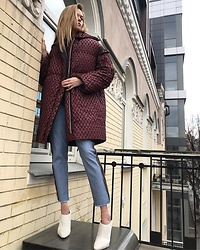 Anastasiia Masiutkina - Litkovskaya Down Coat, Litkovskaya Jeans - Down Jacket could be smart!