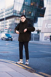 Enea Nastri - Zara Black Trousers, Zara Chunky Sweater, Zara Chunky Sole Shoes - Day 001